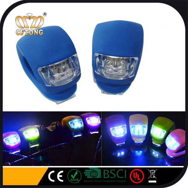 2 led Wholesale Low Price Super Bright silicone bicycle led light