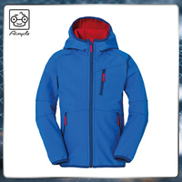 Kids Jacket Hooded Softshell Wind Protection
