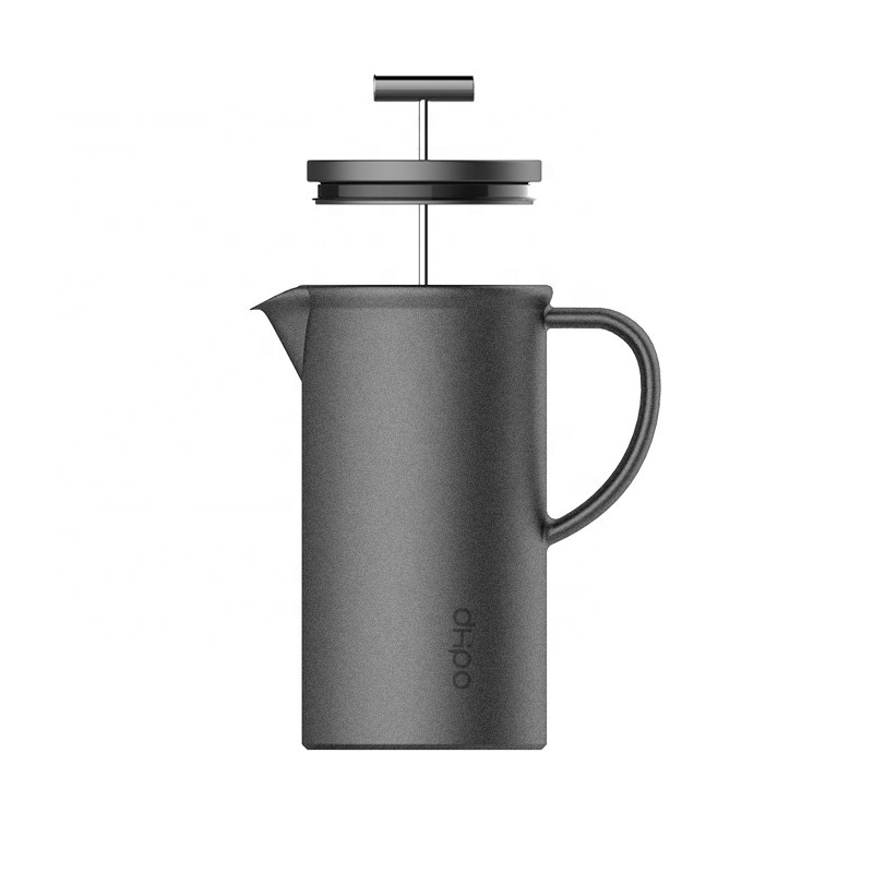 800ml matte black french press <strong>coffee</strong> ceramic with ceramic lid and handle for <strong>coffee</strong> and tea