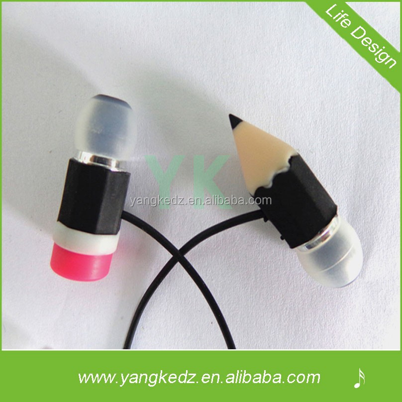 noise cancelling pencil silicon headset for phone and pc with china suppliers