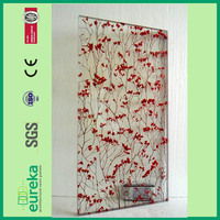 great discount modern style balcony customized red flower design resin sheet