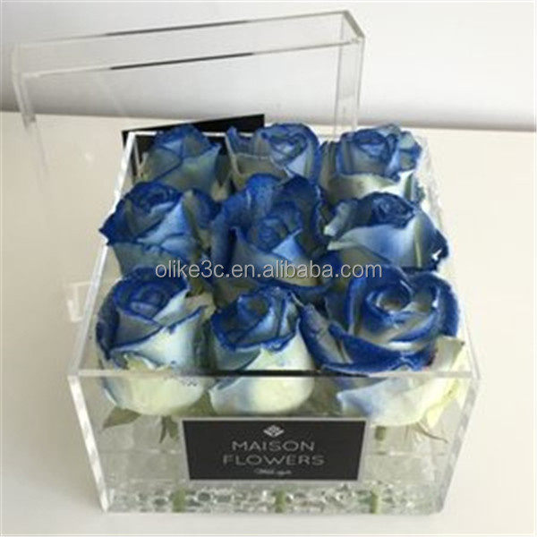 Luxury Acrylic Gift Box Acrylic Rose