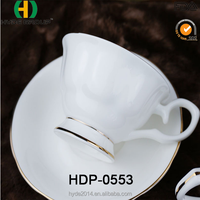 New Bone China Coffee Tea Cup Set White Color with Saucer (HDP-0553)