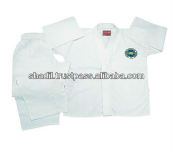 White Students Taekwondo Uniforms Martial Arts Wear ITF