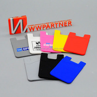 Adhesive 3M Stiker Silicone Smart Wallet Mobile Phone Card Holder for men