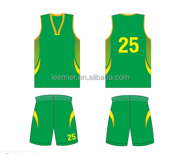 Custom design basketball jersey and shorts