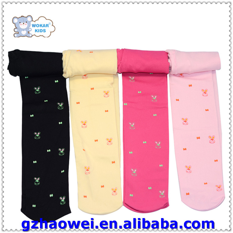 Wholesale cherries printed kids cotton tights