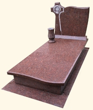 Indian Red Granite Natural stone Tombstone