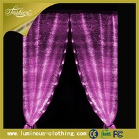 light emitting fabric curtains made with beads hand embroidery designs