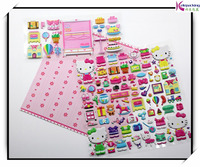 3D sponge foam custom puffy stickers for scrapbook bear hellokitty