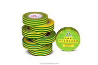 Pressure Sensitive Glue PVC Electrical Insulating adhesive tape Yellow green color on low voltage