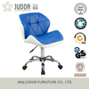 Judor PU Leather Bar stool Chair Blue with casters Gas Lift Swivel Barstool