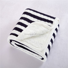 Super Soft Black Striped Picnic Blankets Latest Double Designs Organic Blankets Wholesale