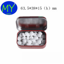 63.5x38x15MM Chewing Gum Metal Can Small Hinge Mint Tin Case