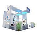 Detian Offer 20x20ft Aluminum Frame Reusable Exhibition Booth Design