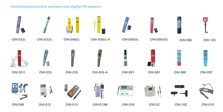 Factory Price OEM Electronic Swimming Pool PH Tester OW-2011