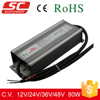 Dali dimmable waterproof constant current IP66 led driver 80w 24v