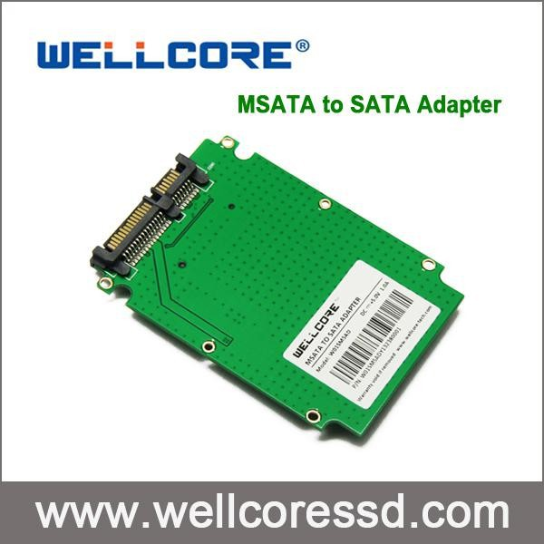 SSD -enclosure 2.5' SATA motherboard to mini pcie pci-e ssd adapter msata to sata adapter