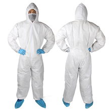 Hoertai- White Disposable Non woven coverall with hood