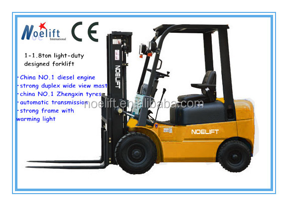 izuzu engine quality brand 1-1.8t diesel forklift truck for sale