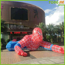 Inflatable cartoon model type promotional inflatable spiderman model for sale