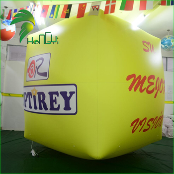 Advertising Display Outdoor Logo Customized Floating Cube Helium Model Ball