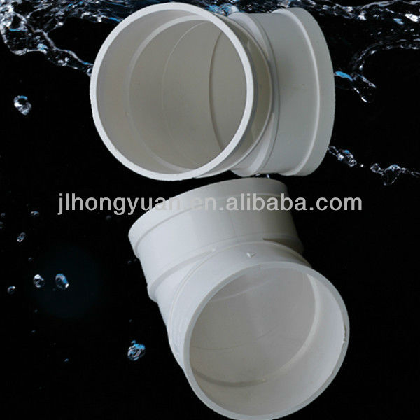 PVC 45degree elbow for Drainage Pipe System verified by BV/ISO