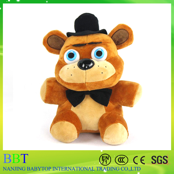 2016 Hot 25cm Five Nights at Freddy's Plush, Freddy Fazbe Bonnie Chica Foxy The Mangle FNAF Plush Doll