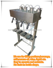 2 Double head pneumatic automatic piston/shapoo liquid filling machine