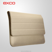 EXCO PU Microfiber lining notebook custom laptop leather sleeve for 11.6 inch