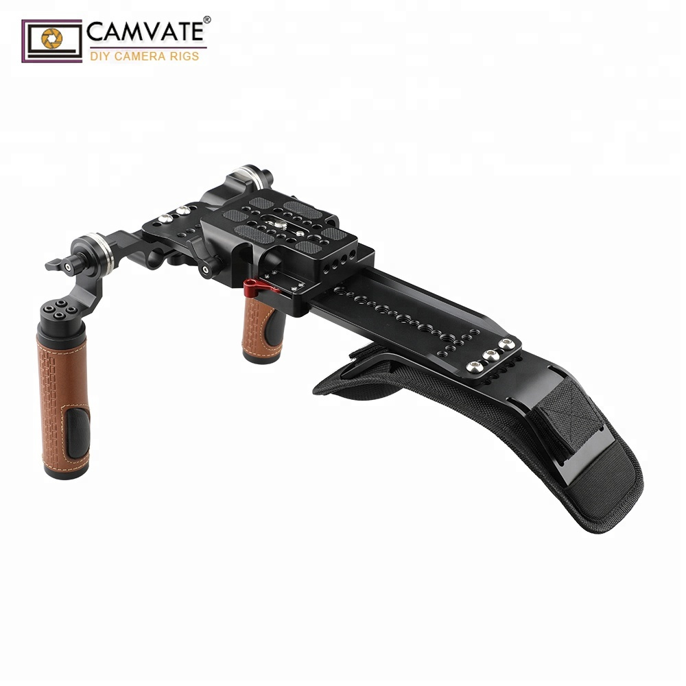 CAMVATE New arrival Shoulder Rig Handle Kit For <strong>C100</strong> 200 300