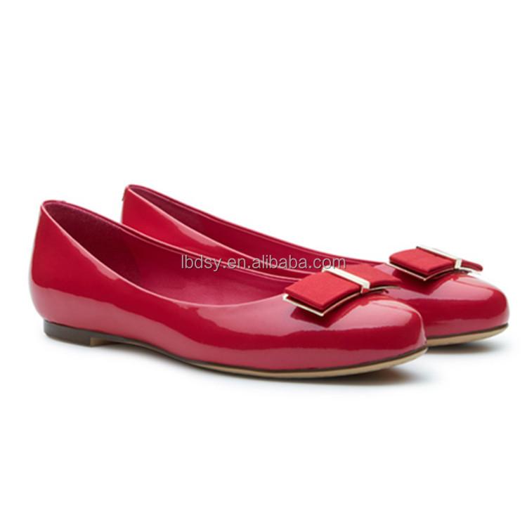 High Quality Pu Leather Flat Shoes Elegant Design ...
