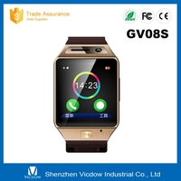 2016 New style android 4.4 smart watch GV08S smartwatch OEM with bluetooth and camera for ios phone watch for man and women