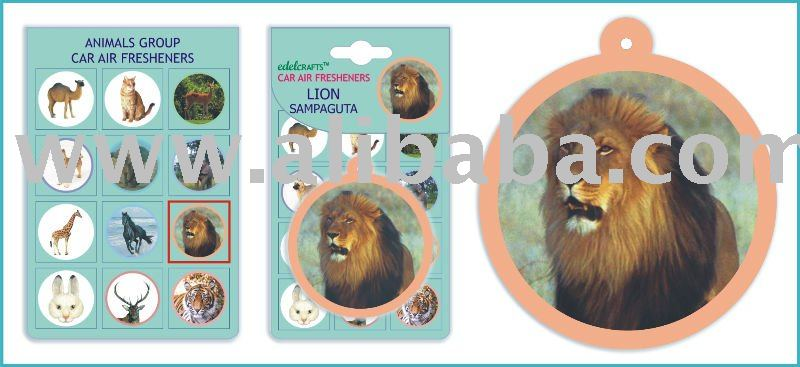 Lion Car Home Paper Hanging Air Freshener