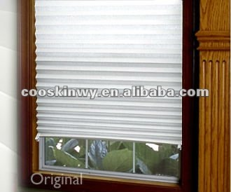 Hot paper pleated shutter