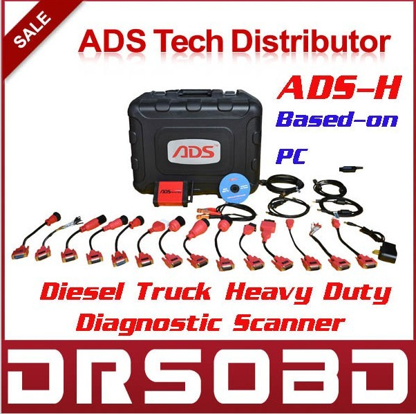 New Arrival ADS-H Truck Diagnostic Scanner Based-on PC ADS3100 Universal Diesel Truck Heavy Duty Scan Tool With Fast Shipping