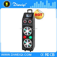 "7"" LED screen professional Hi-Fi trolley active stage speaker with light"