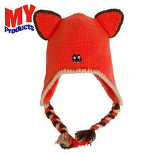 Fashion Sweet Baby Kids Toddler Knitted FOX animal winter warm kids Crochet Cap Beanie Winter Hat