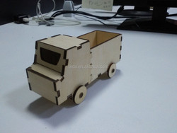 Wooden toy building truck, diy wood car