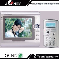 7 inch TFT screen time attendance and door phone, Smart card Access control