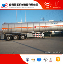 Aluminium -alloy 3 Axle 45000 liters small fuel tanker trailer