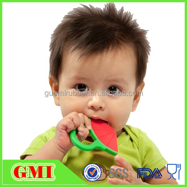 Bulk Silicone Baby Teething Teether Toy with Pacifier Clips Teether Holders