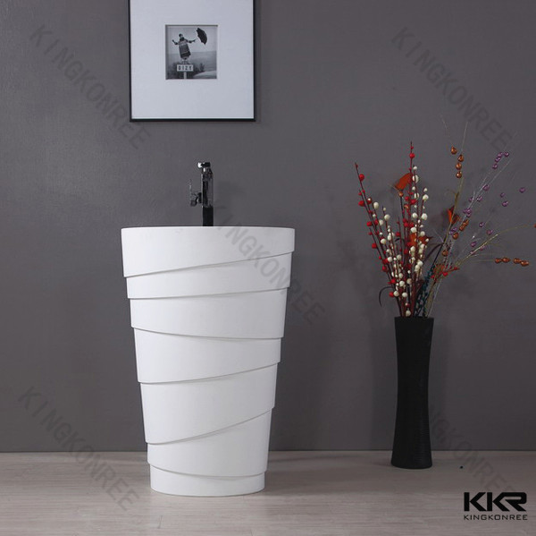 Freestanding Sink : Freestanding Pedestal Sink - Buy Round Freestanding Pedestal Sink ...