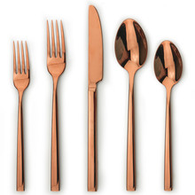 British rose gold tableware
