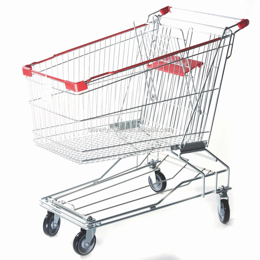 150L Hot Sale Asia Style Supermarket Shopping Cart
