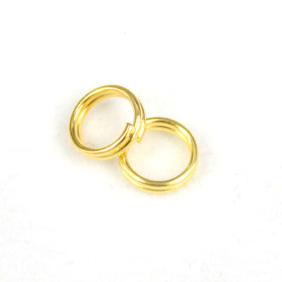 all sizes flexible jewelry findings wholesale brass golden plated colored split jump rings for jewelry making