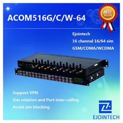 12 Months Warranty ! ! Ejoin 16 port / channel WCDMA voip gateway digium pci gsm card