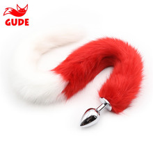 Wholesale Good Feedback dog tail anal plug lengthen fox tail sex toys for women