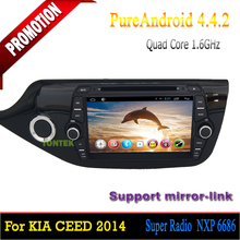 Tontek for Kia Car with Radio Android Quad core Car dvd player for Kia Ceed 2013 2014