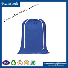 Durable Recycled Wholesale Cotton Fabric Drawstring Bag Cotton Canvas Bag